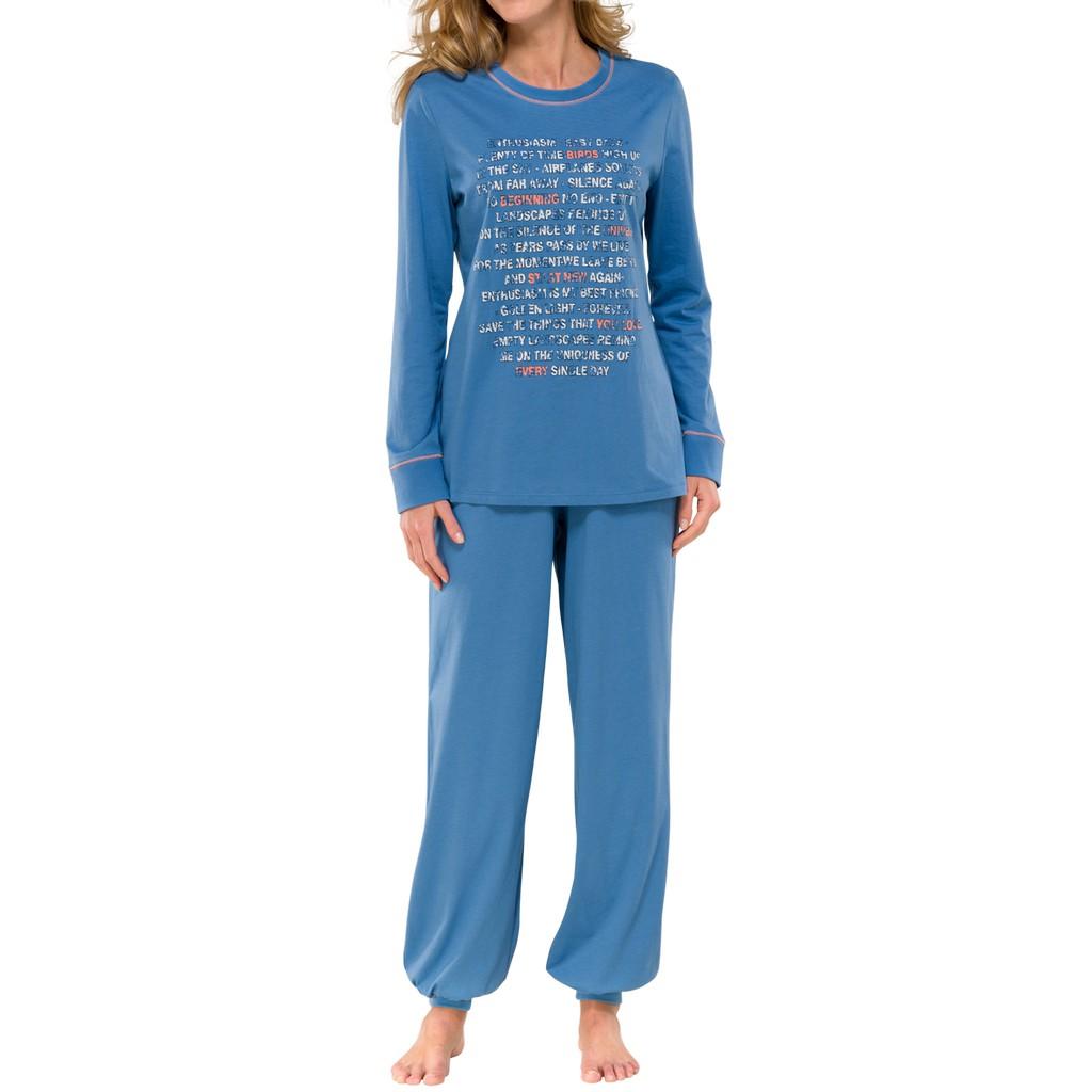 schiesser damen langer schlafanzug pyjama lang 139442 ebay. Black Bedroom Furniture Sets. Home Design Ideas