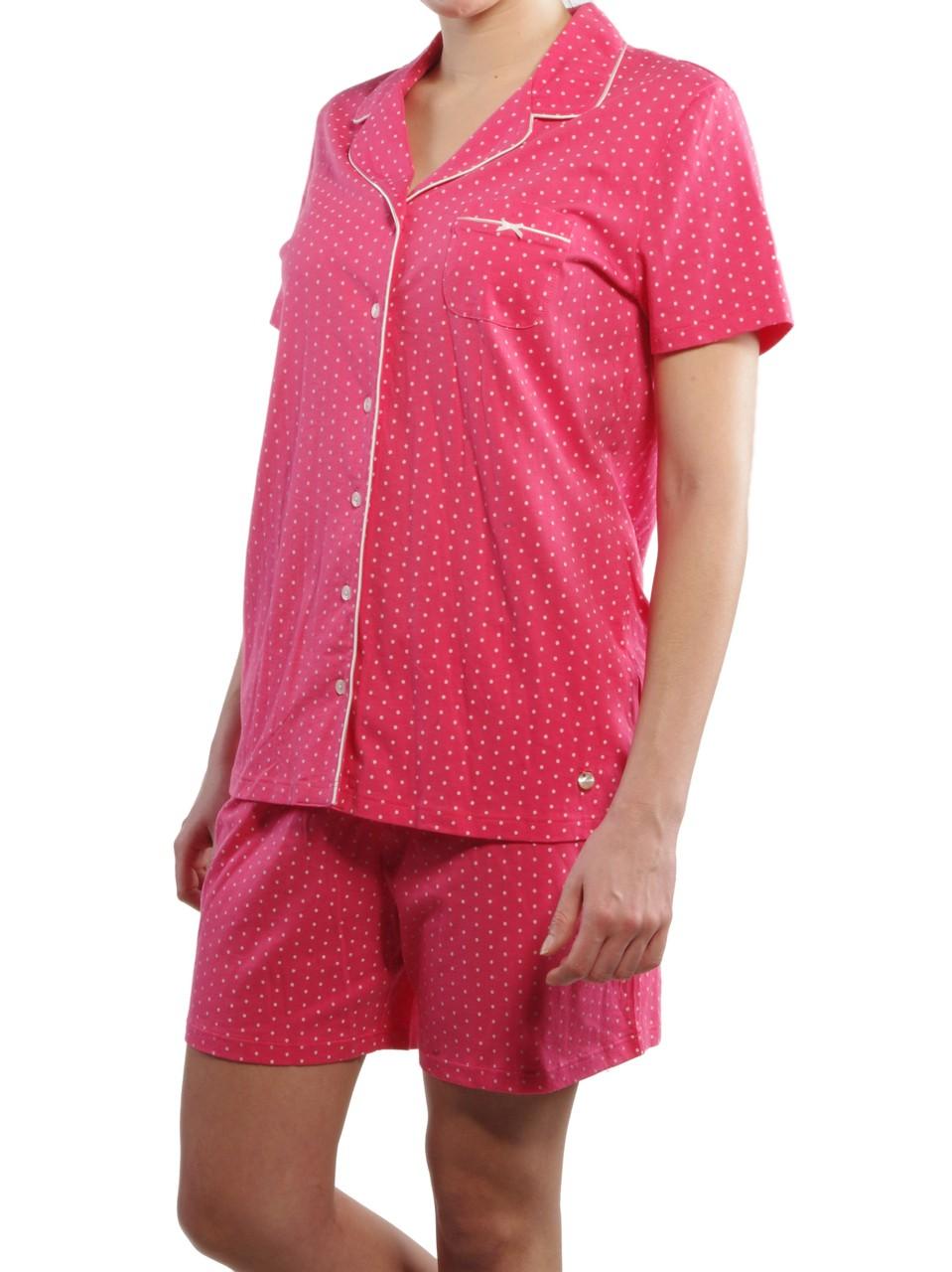 seidensticker damen kurzer pyjama schlafanzug kurz 141070 ebay. Black Bedroom Furniture Sets. Home Design Ideas