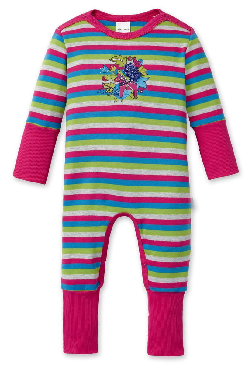 schiesser baby m dchen schlafanzug einteiler mit fuss nordzauber 149877 schiesser w sche. Black Bedroom Furniture Sets. Home Design Ideas