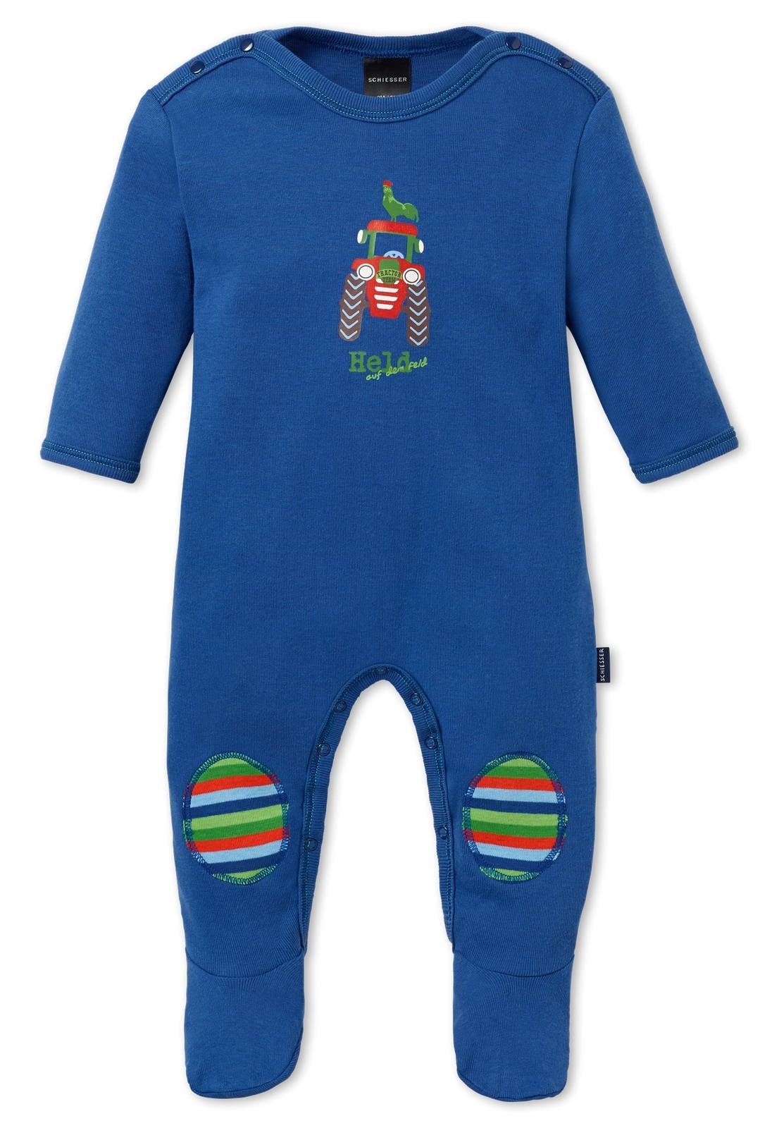 schiesser baby jungen schlafanzug mit fu einteiler farmer boy 151705 schiesser w sche. Black Bedroom Furniture Sets. Home Design Ideas