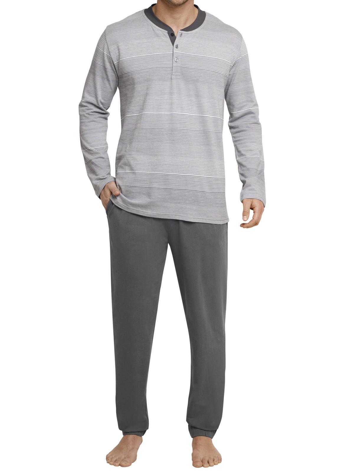 schiesser herren langer schlafanzug pyjama lang 159524. Black Bedroom Furniture Sets. Home Design Ideas