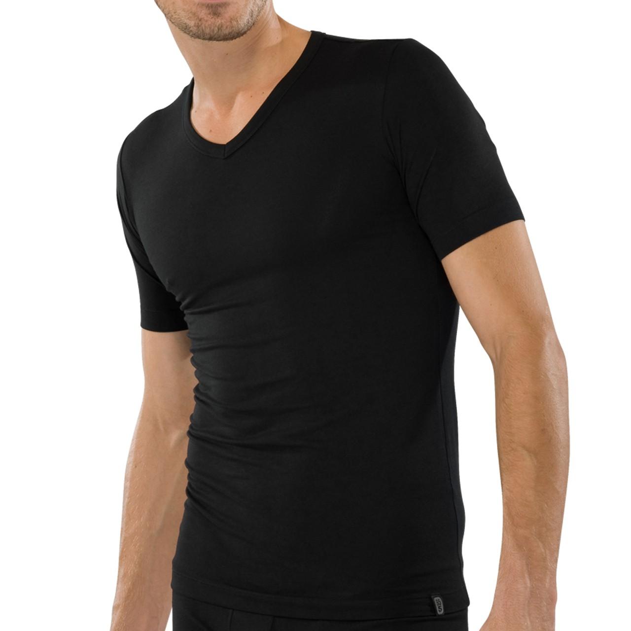 schiesser herren unterhemd shirt v neck kurzarm 1 2. Black Bedroom Furniture Sets. Home Design Ideas