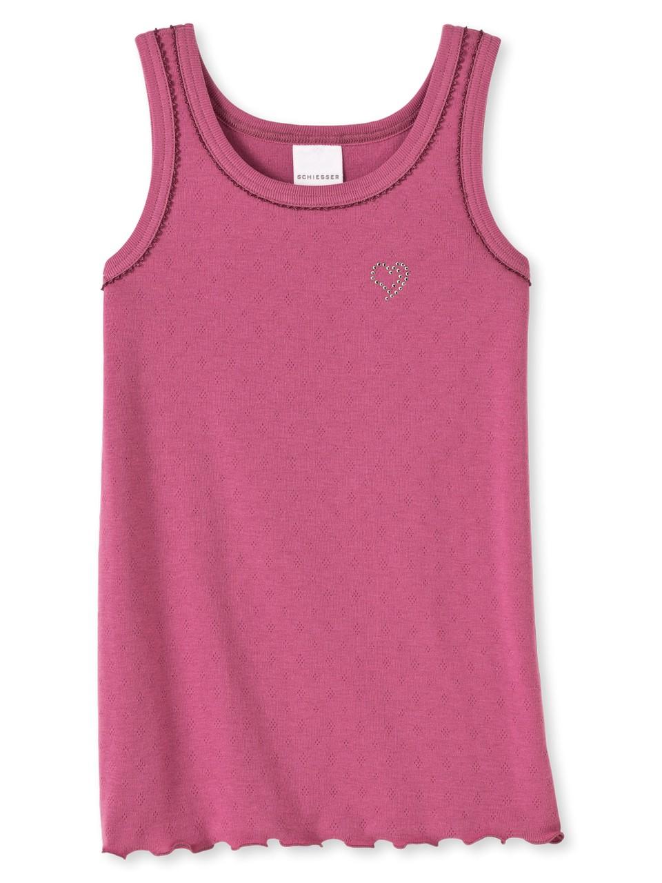 Schiesser Mädchen Unterhemd ohne Arm 0//0-129569