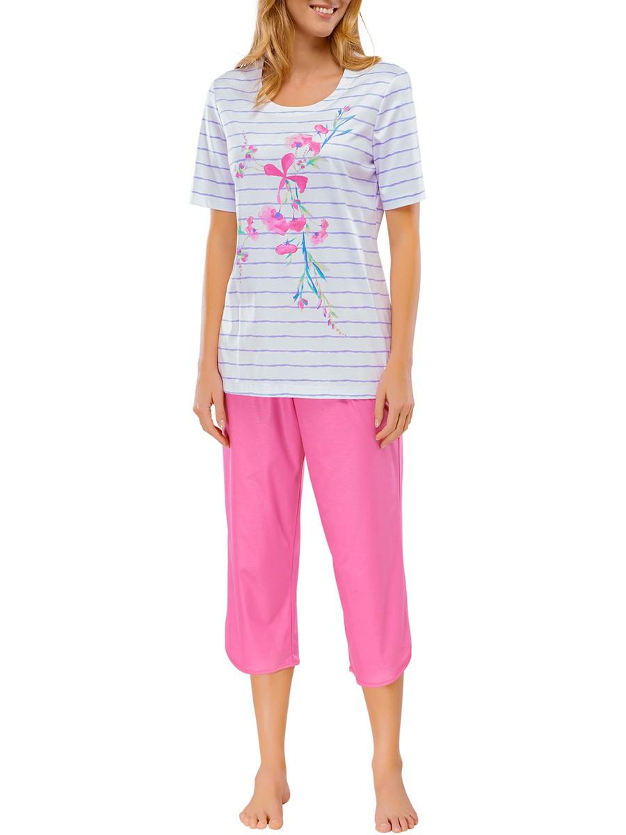 low priced 54203 33505 Schiesser Damen Schlafanzug Kurzarm mit 3/4 langer Hose Pyjama Lang -  147033 | KAPS - Wäsche & mehr - Schiesser - Marc O'Polo - Seidensticker -  ...