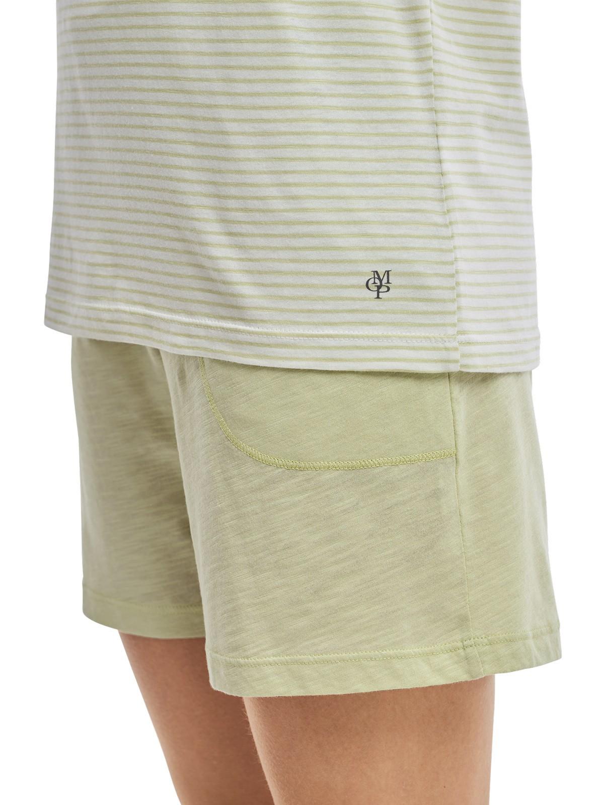 watch 6e4a9 3cc4b Marc O'Polo Damen kurzer Schlafanzug Pyjama Loungeset V-Neck - 162242